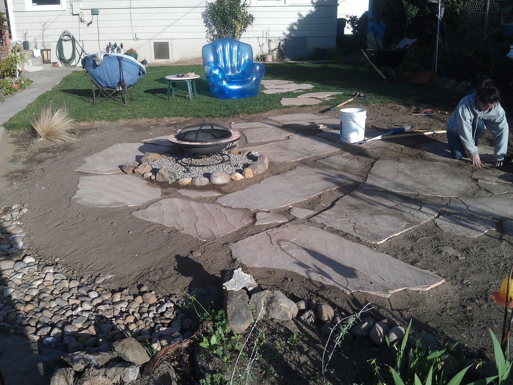 Building a Flagstone Patio - Mind Your Dirt on Flagstone Backyard Patio id=91923